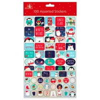 Christmas Stickers Assorted 100 Pack