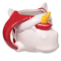 Festive Friends Christmas Unicorn Head Shaped Ceramic Mug