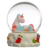 Festive Friends Christmas Unicorn Waterball Snow Globe