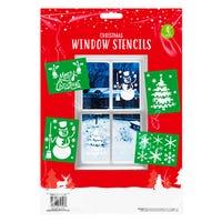 Christmas Window Stencils 4 Pack