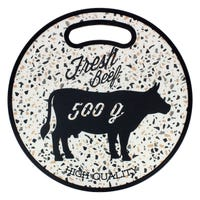Round Cutting Board 100% Beef Design