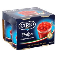Cirio Chopped Tomatoes 4 Pack