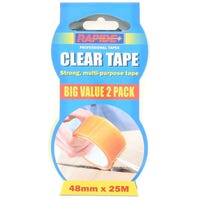 Strong Multi Purpose Clear Tape 2 Pack