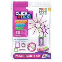 Click Sticks Build Kit in Pink 50 Pieces