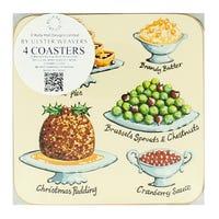 Kelly Hall Christmas Feast Coasters 4 Pack