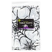 Halloween Table Cover Cobwebs 132 x 178cm