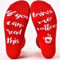 Ladies Funky Socks If You Can Read This Bring Me A Coffee