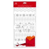 Make Your Own Christmas Cracker Kit in Colour Your Own Santa