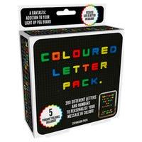 Retro Coloured Letter 200 Pack