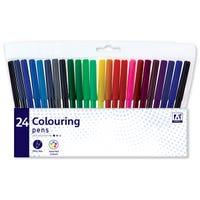 Fibretip Colouring Pens 24 Pack