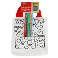 Colour Your Own Reindeer Canvas Bag
