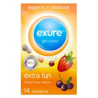 Exure Extra Fun Condom Fruity 14 Pack