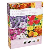 Container Flowers 4 In 1 Seed Starter Kit