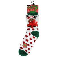 Cosy Socks in Reindeer Design