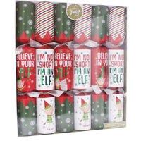 Christmas Elf Crackers 6 Pack 39cm