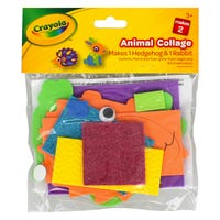 Crayola Animal Collage with Rabbits and Hedgehogs