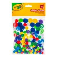 Crayola Assorted Bright Poms 180 Pack