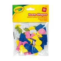 Crayola Peel and Stick Foam Glitter Letters 80 Pack