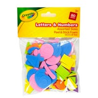 Crayola Peel and Stick Foam Letters and Numbers 80 Pack