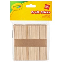 Crayola Natural Craft Sticks 100 Pack