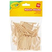 Crayola Natural Match Sticks 400 Packs