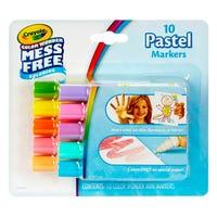 Crayola Mess Free Mini Pastel Markers 10 Pack