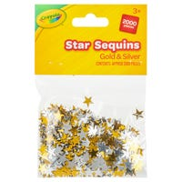 Crayola Gold and Silver Star Sequins 2000 Pack