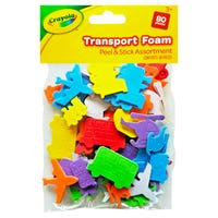 Crayola Peel and Stick Transport Foam 80 Pack