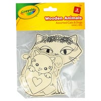 Crayola Wooden Cats and Dogs 3 Pack