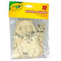 Crayola Wooden Bears 3 Pack