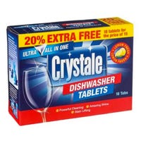 * Crystale Dishwasher Tablets 18 Pack