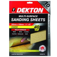 Dekton Multi-Surface Sanding Sheets 280m 10 Pack