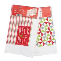 Premium Kitchen Tea Towels Christmas Design Assorted 3 Pack