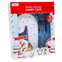 Tinseltown Decorate Your Own Light Up Candy Cane