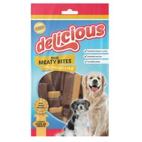 Delicious Meaty Bites Dog Treats 200g