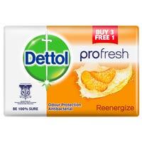 Dettol Pro-Fresh Anti-Bacterial Re-Energise Soap 4 Pack