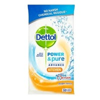 Dettol Power & Pure Multipurpose Kitchen Wipes Oxygen Splash 32 Pack