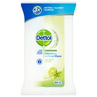 Dettol Anti-Bacterial Cleansing Surface Wipes Lime and Mint 84 Pack