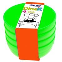 Edgo Dineit Bowls Green 4 Pack