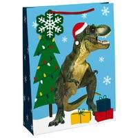 Christmas Dinosaur Large Gift Bag
