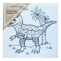 Craft Mania Colour In Mandala Canvas Dinosaur