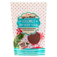 Dirty Works Life's a Beach Coconut Dry Body Scrub Pouch 200g