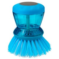 Soap Dispensing Dish Brush Blue