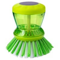 Soap Dispensing Dish Brush Green
