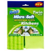 Duzzit Micro-Soft and Microfibre Kitchen Cloths 2 Pack