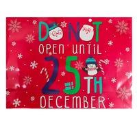 Christmas Do Not Open Landscape Giant Gift Bag