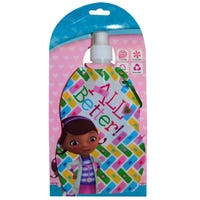 Doc McStuffins Foldable Water Bottle with Carabiner Clip