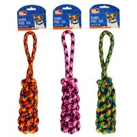 Braided Log Rope Dog Pull with Handle Assorted