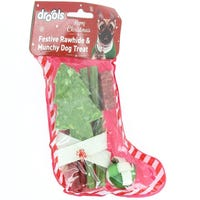 Drools Festive Rawhide And Munchy Dog Treats Stocking Assorted