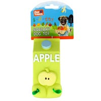 Squeaky Apple Bottle Dog Toy